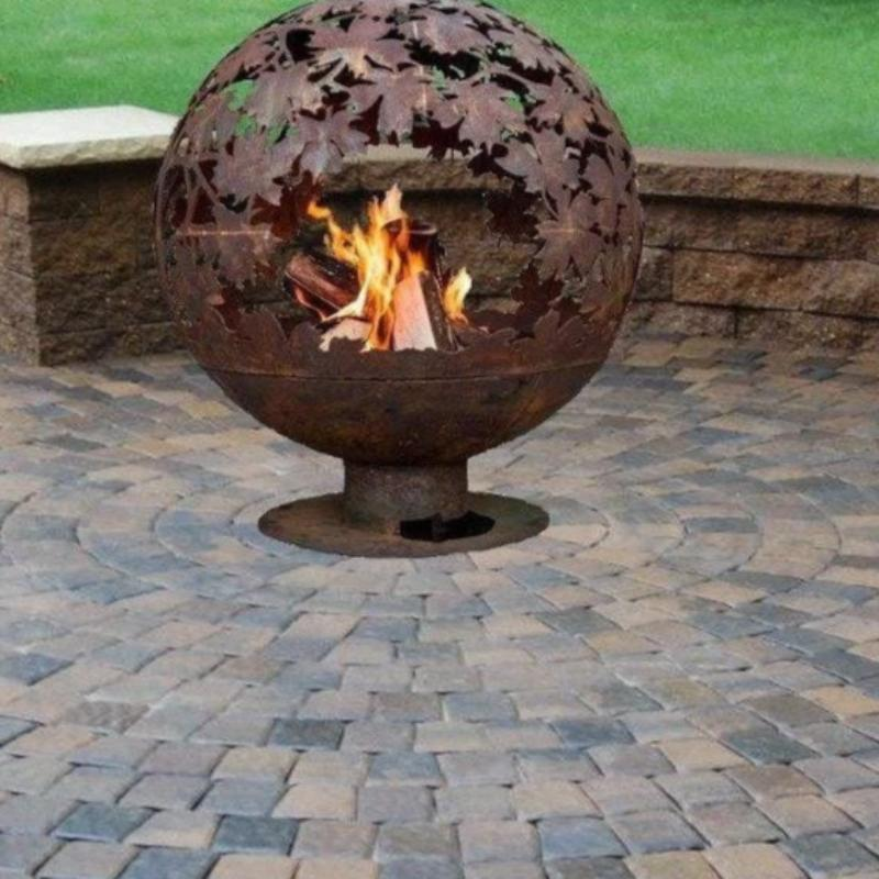 Esschert Design Leafs Fire Globe Outdoor Heating