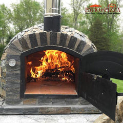 Lisboa Brick Pizza Oven with Stone Finish