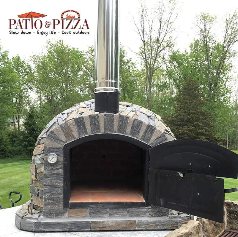 Lisboa Pizza Oven with Stone Finish