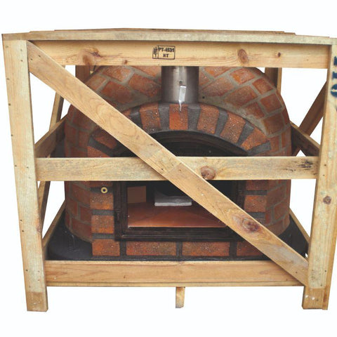 Image of Brick Pizza Oven - Lisboa Rustic in a crate for shipping
