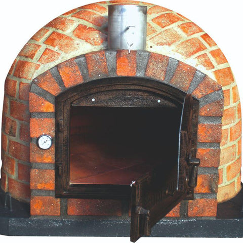 Image of Brick Pizza Oven - Lisboa Rustic with a Dutch door