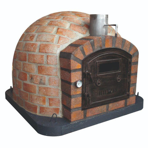 Rustic Premium Lisboa Brick Pizza Oven for wood cooking