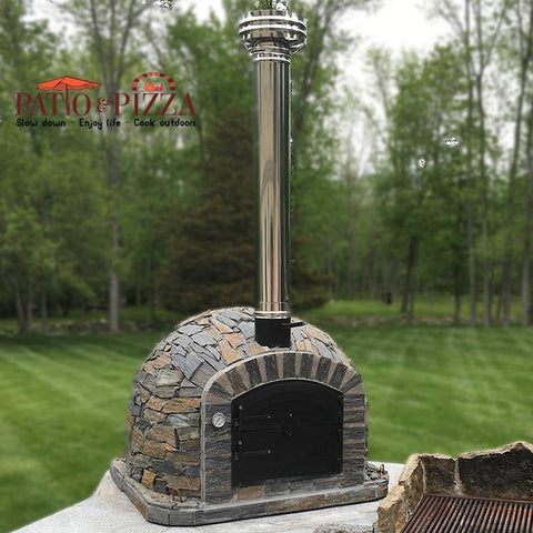 Lisboa Portuguese Pizza Oven with Stone Finish