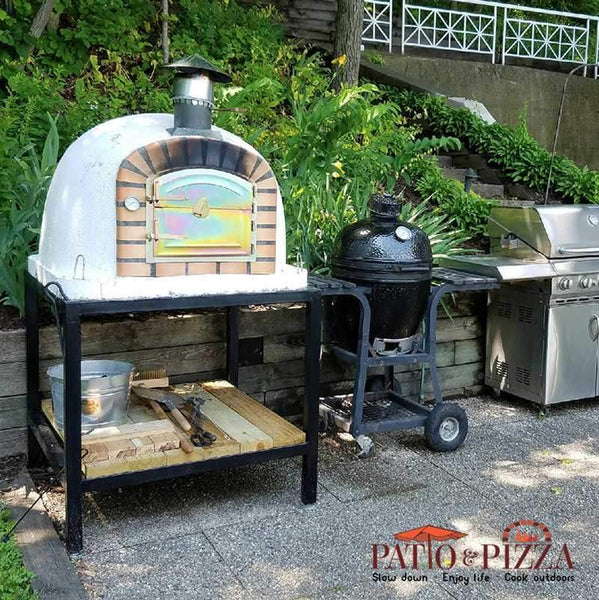 Outdoor Kitchen Kits For Sale: Authentic Pizza Ovens Lisboa Brick Wood-Fired Pizza Oven