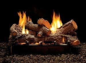 Empire Vail Peninsula Vent-Free Fireplaces 24-inch Raleigh refractory log set