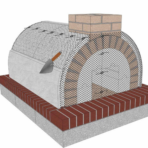 Brickwood Pizza Oven Kit Mattone Barile Grande Form