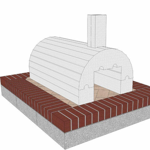 Brickwood Pizza Oven Kit Mattone Barile Package 1