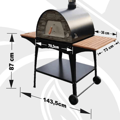 Image of Pizza Oven Stand Dimensions