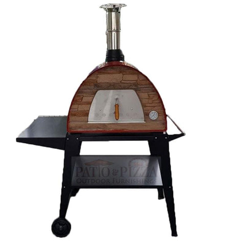 Image of Best portable outdoor wood-fired pizza oven on cart