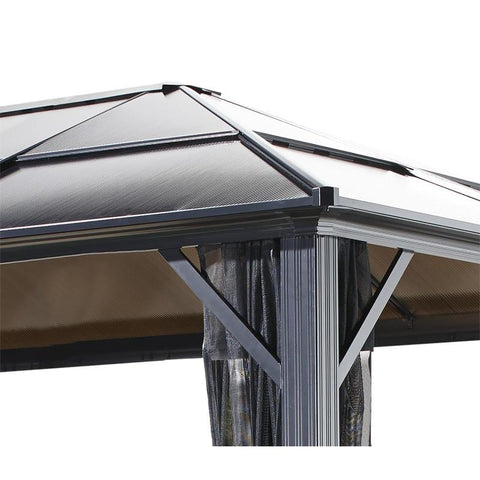 Image of Sojag Meridien Hard Top Gazebo with Polycarbonate Roof