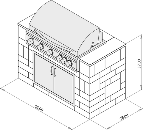 Image of Rockwood Sizzler Grill Cabinet Kit