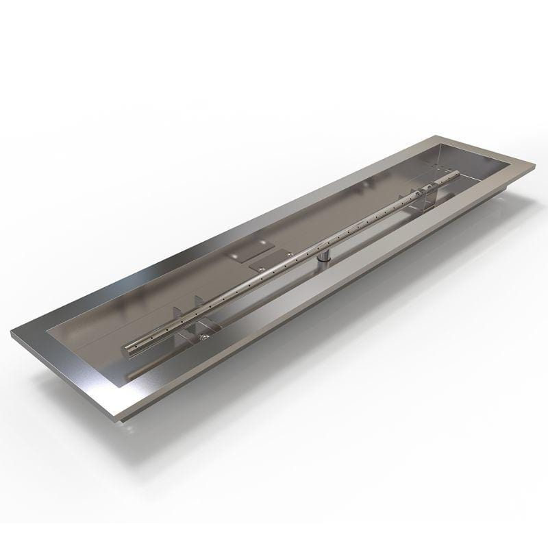 """36/"""" 304 Stainless Steel Linear Drop in Fire Pit Pan and Burner Kit"""