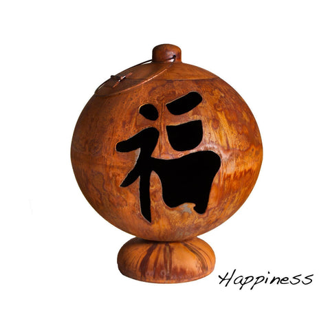 "Ohio Flame-Fire Globe: ""Happiness"""