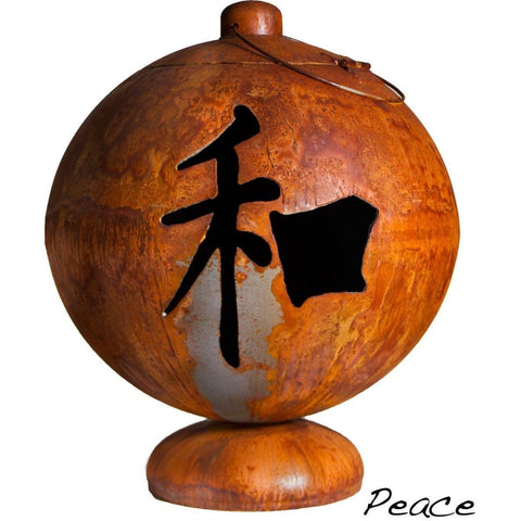 "Ohio Flame-Fire Globe: ""Peace"""