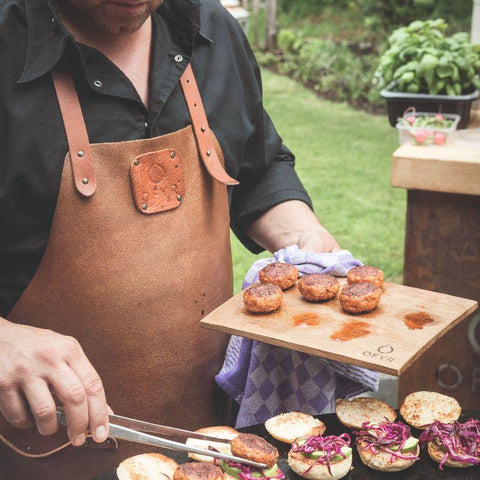 Image of OFYR LEATHER APRON Grilling