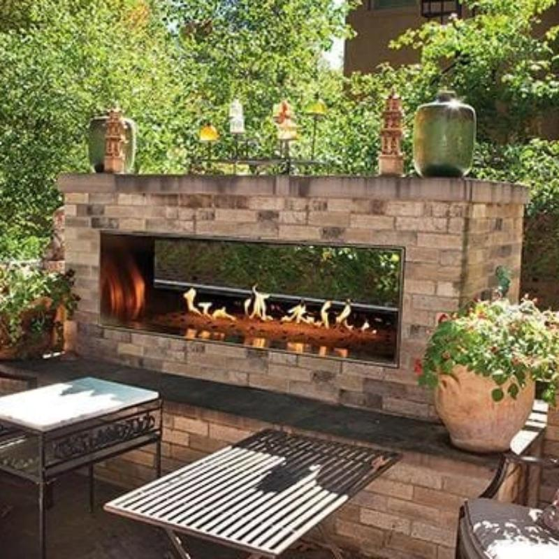 Empire Carol Rose Outdoor Linear See-Through Fireplace 60""