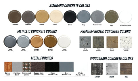Image of The Outdoor Plus concrete fire pit colors