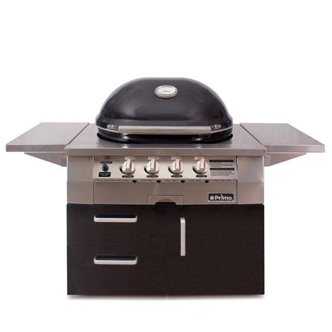 Primo Oval G420 Ceramic Gas Grill on Cart