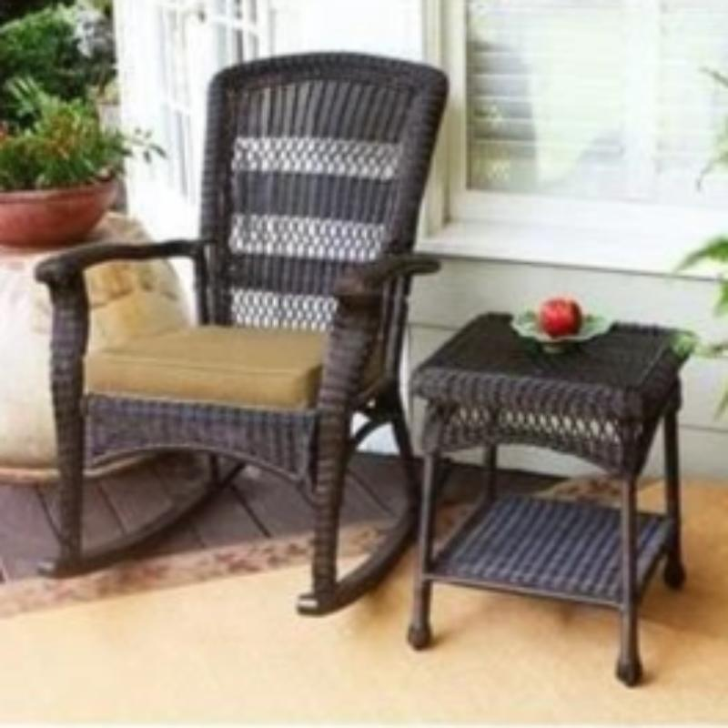Portside Plantation Rocking Chair - Dark Roast