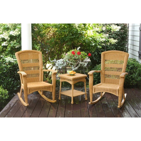 Portside Plantation 3pc Rocking Chair Set