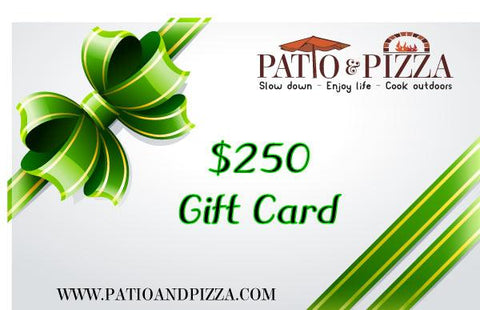 Patio & Pizza $250 Gift Card
