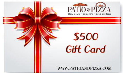 Patio & Pizza $500 Gift Card
