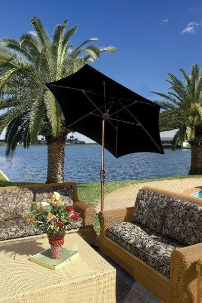 Fiberbuilt Patio Umbrella Home Collection Patio 7.5 Ft Tilt - 7HCRCB-T-BLK