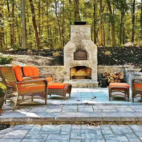 Pizza oven fireplace combo