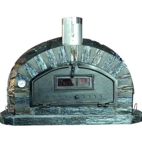 Image of Brick Pizza Oven with Stone Finish Pizzaioli