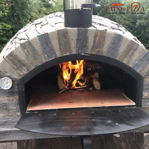 Image of Pizzaioli Brick Pizza Oven Stone Finish | Authentic Pizza Ovens