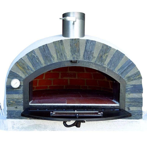 Pizzaioli brick oven with door open