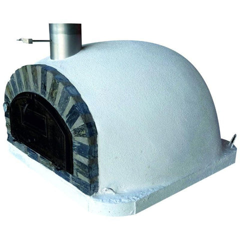 Right side of the Pizzaioli Premium Brick Pizza Oven with Stone Face