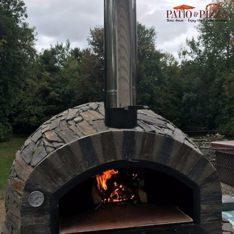 Authentic Pizza Ovens | Pizzaioli Brick Pizza Oven Stone Finish