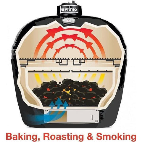 Image of Primo Oval XL 400 Ceramic Grill Baking