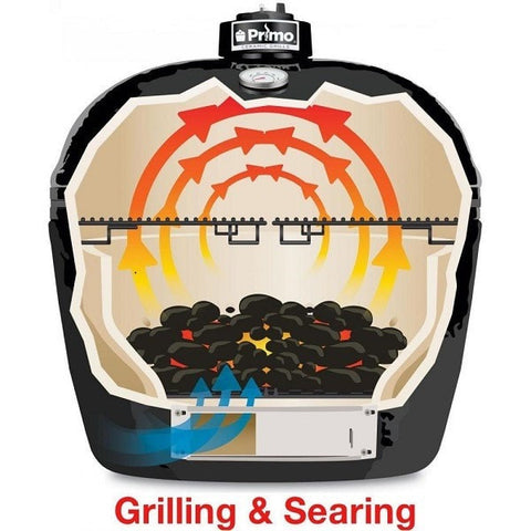 Image of Primo Oval XL 400 Ceramic Grill Searing