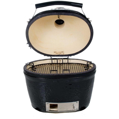 Image of Primo Oval JR 200 Ceramic Grill Open