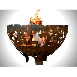 Esschert Design Laser Cut Fire Bowl: Wildlife