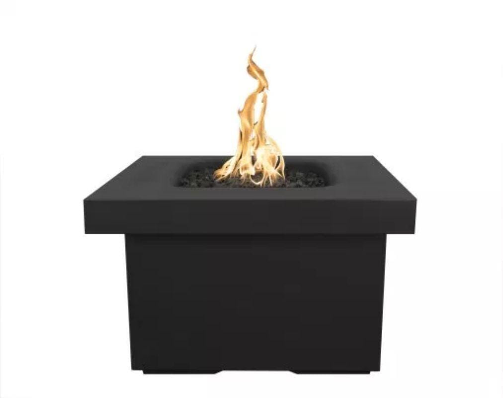 "Ramona Square Firepit Table 36"" - Black"