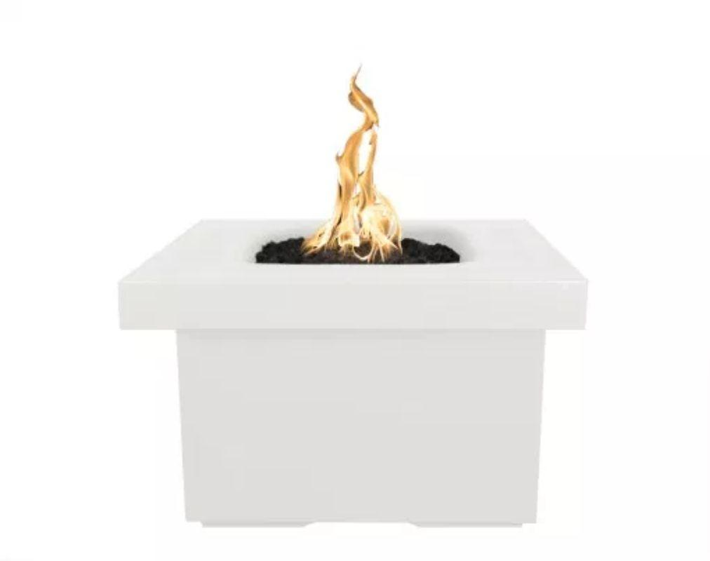 "Ramona Square Firepit Table 36"" - Limestone"