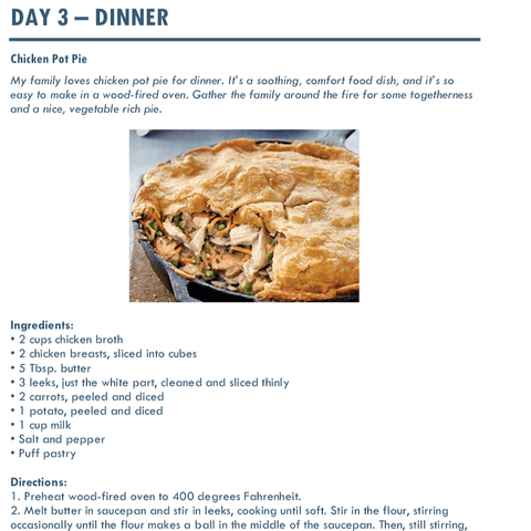 Wood Fired Recipe - Chicken Pot Pie