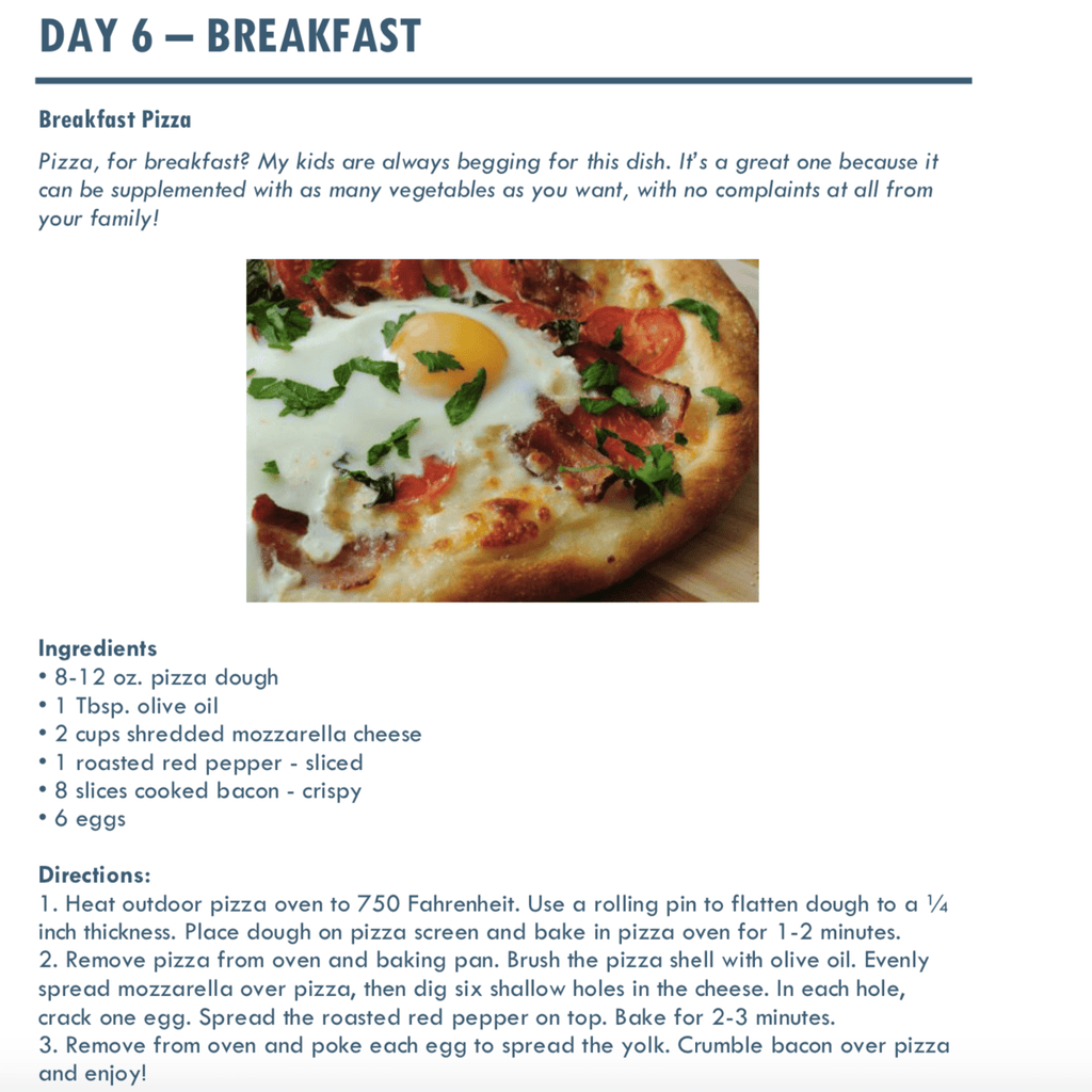 Wood Fired Recipe - Breakfast Pizza