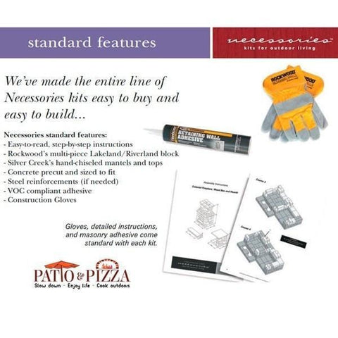 Necessories Grand Fireplace Kit Included in Kit