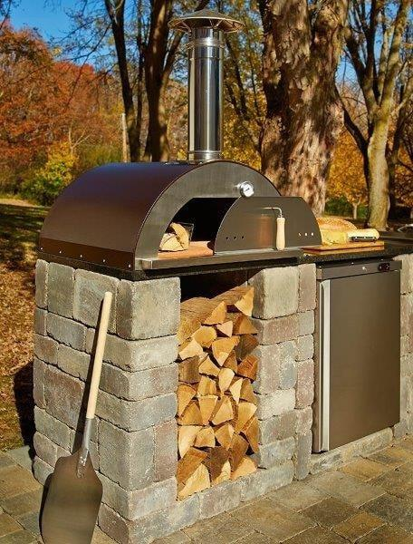 Outdoor Kitchen Kits Necessories Woodbox Kit With Pizza Oven