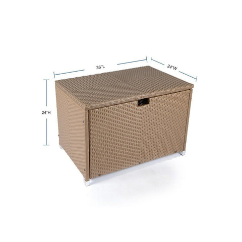 Image of Storage Box - Medium By Tortuga Outdoor Great Room