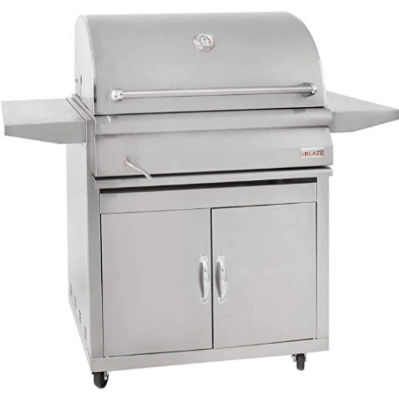 Blaze 32-inch Charcoal Grill With Blaze 32-Inch Grill Cart