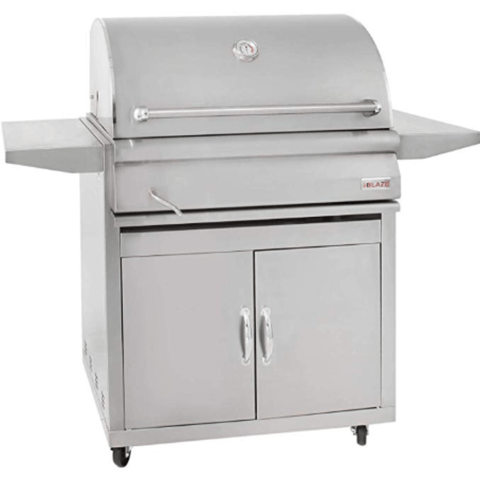 Image of Blaze 32-inch Charcoal Grill With Blaze 32-Inch Grill Cart