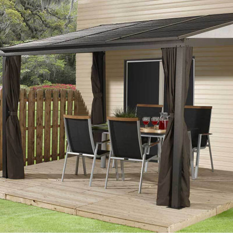 Image of Wall-Mounted Gazebo over patio - Sojag Portland
