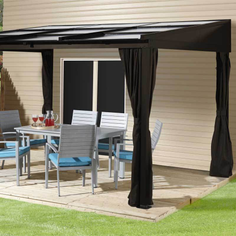 Wall mount gazebo on patio 500-9165371