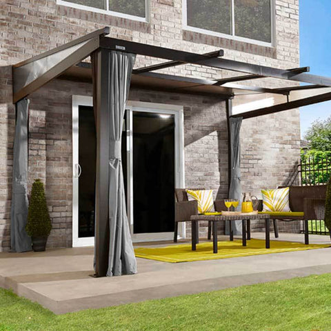 Sojag Budapest Wall-Mounted Hard Top Gazebo 10 x 12 ft