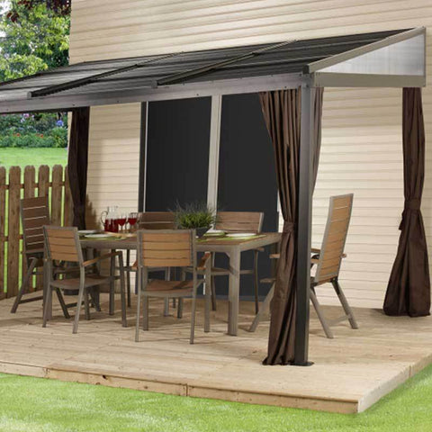 Image of Sojag  Francfort 500-9165241 Gazebo covering dining table patio